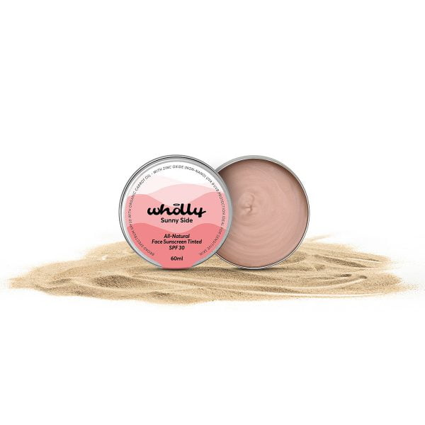 Wholly Skincare Sunny Side All Natural Face Sunscreen Tinted SPF 30