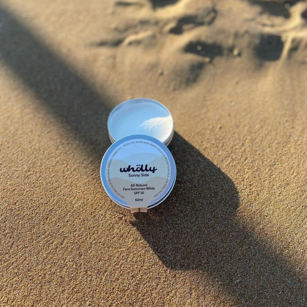 Wholly Skincare Sunny Side All-natural Face Sunscreen White SPF 30